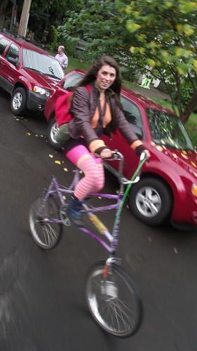 I don't crash my tall bike accidentally