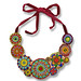 Embroidered seed bead necklace by Elsita (Elsa Mora)