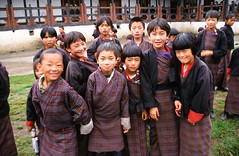 School Children, Bumthang