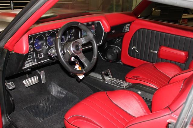 Car Tunes Atlanta: Chevrolet Chevelle Matte Black With Red Stripes