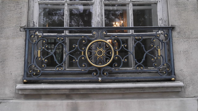 Une rambarde en fer forg d une des fen tres du mus e rodin flickr photo sharing for Rambarde fer forge