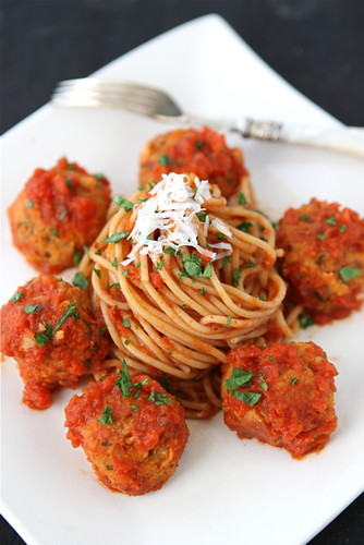 "Cannellini Bean Vegetarian ""Meatballs"" with Tomato Sauce Recipe"