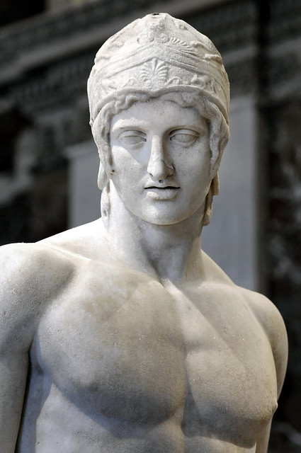 Head Detail, The Ares Borghese, 2nd Century BC, from the Agora in Athens, by Marie-Lan Nguyen