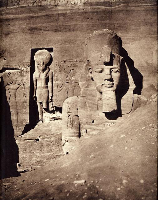 Abu Simbel, Egypt, 1851-2, by Félix Teynard