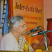 Smt. Shiela Dikshit, Chief Minister of Delhi, gave the Valedictory Address at the Inter-faith Meet held at the Ramakrishna Mission, Delhi.