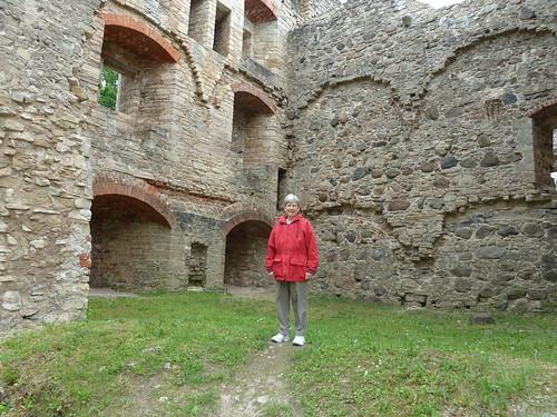 castle architecture stones arches medieval latvia cesis