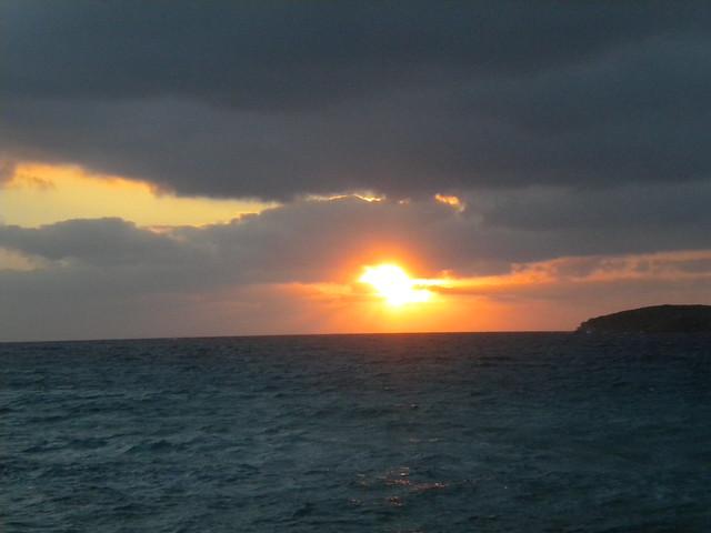 Puesta del sol en la Cala Conta de Ibiza