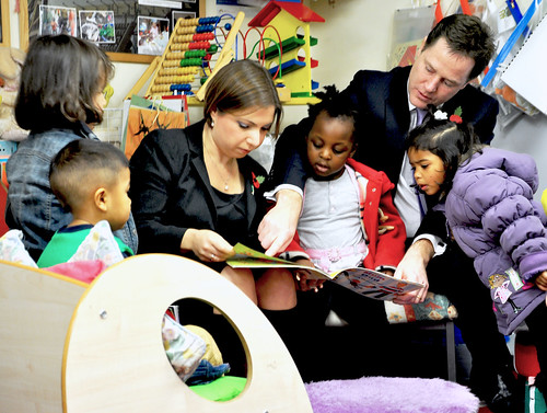 Sarah Teather and Nick Clegg visit Church Street Nursery