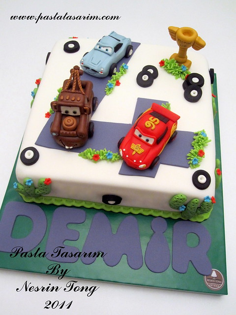 CARS - MCQUEEN CAKE - DEMIR BIRTHDAY