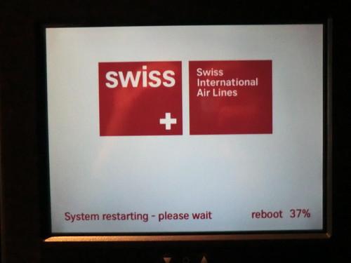 (Rebooting seat program) Swiss international air on the way to Zurich
