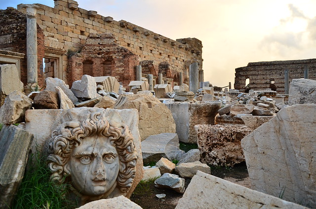 Leptis Magna temple remains