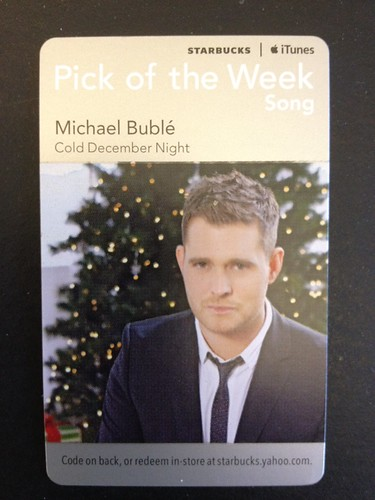 Starbucks iTunes Pick of the Week - Michael Bublé - Cold December Night
