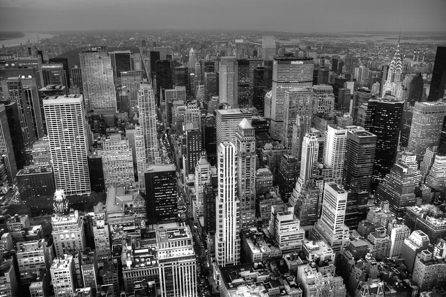New York City as seen from the Empire State Building