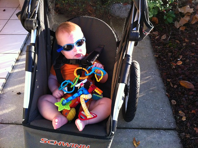 George is styling in his shades thanks to Auntie @just_kelly.