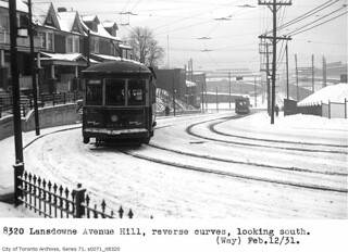 Lansdowne Avenue hill, looking south