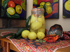 STILL LIFE WITH PRESERVED LEMONS