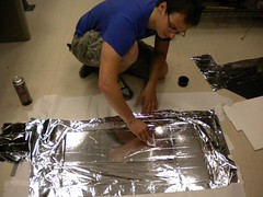 Applying Mylar to Foam Core board