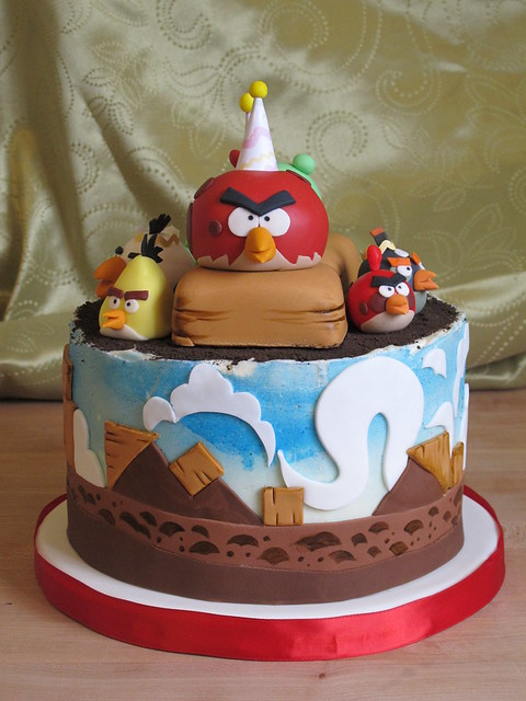 Pictures Of Angry Birds Birthday Cakes : Angry Birds Cake Flickr - Photo Sharing!