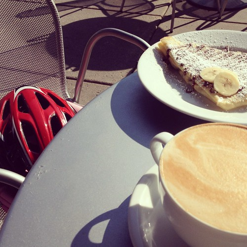 bike ride, coffee, and nutella crepe