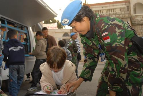 Wanita TNI dalam Misi Perdamaian PBB di Libanon Selatan