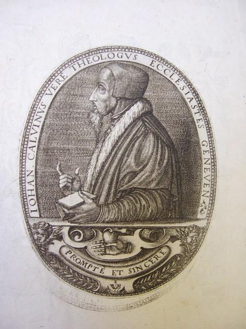P16-544 portrait de Jean Calvin par Pierre Woeiriot de Bouzey