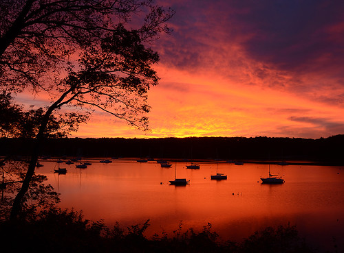 Sunrise Over the Cove - East Greenwich, Rhode Island