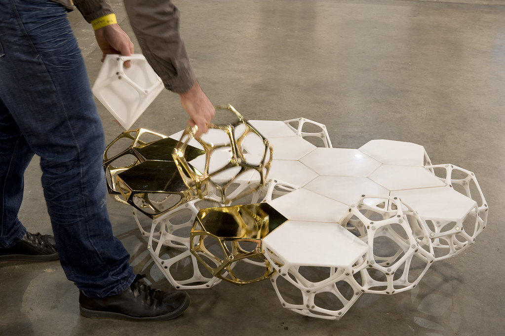 Polyhedra modular coffee table prototype, Designed by Haldane Martin, Photo Dook Ross