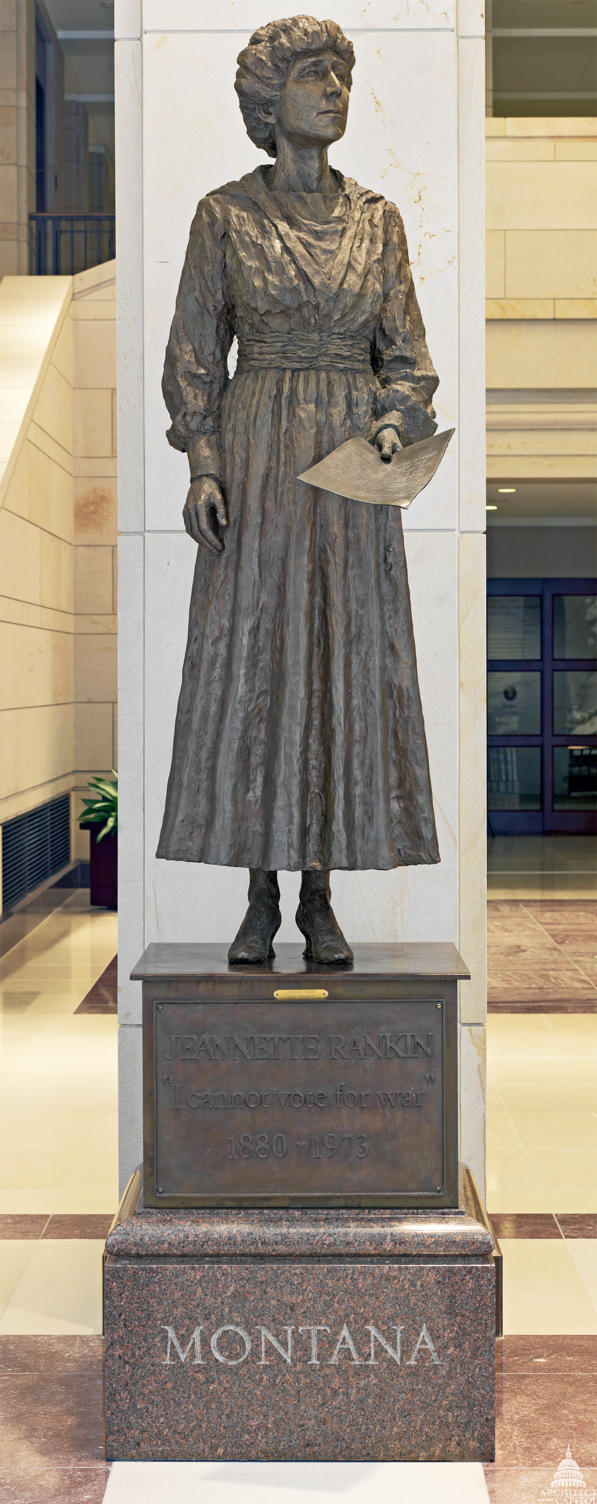 Jeannette Rankin Architect Of The Capitol