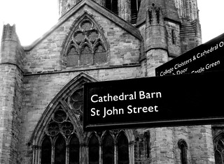 Hereford Cathedral  Street Signs after Dennis Thorpe #dailyshoot #Hereford