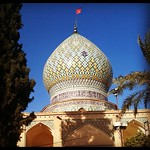Mausoleum with tiled dome in Shiraz, Iran.