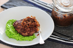 burgers with mashy peas-3