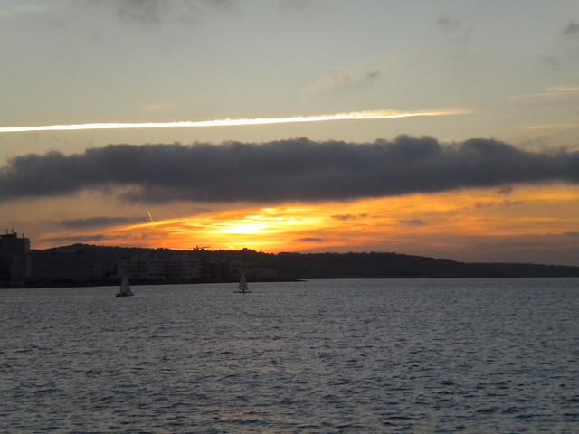 Atardecer desde el Café del Mar en Ibiza