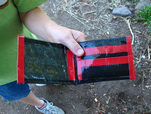 inside of S' duct tape wallet