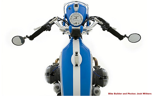 Top View BMW Cafe Motorcycle