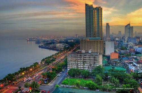 sunrise philippines manila hdr bayfront roxasboulevard diamondhotel rexmontalbanphotography