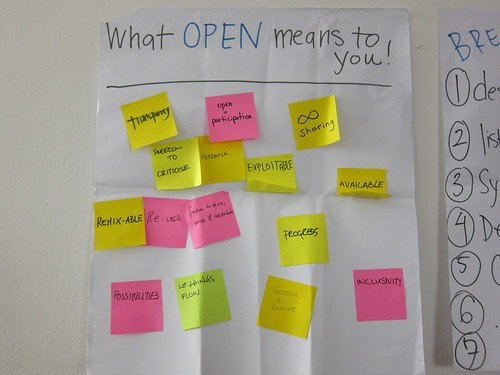 What open means to you