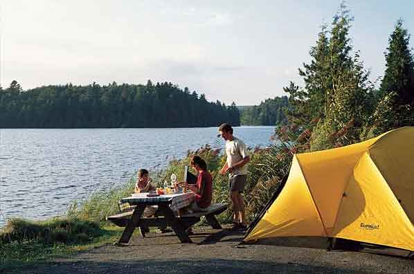 Camping du Parc du Mont Orford (Québec, Canada)