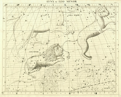 013-El lince y el Leon Menor-Atlas Coelestis 1729- John Flamsteed-University of Michigan Shapiro Science Library