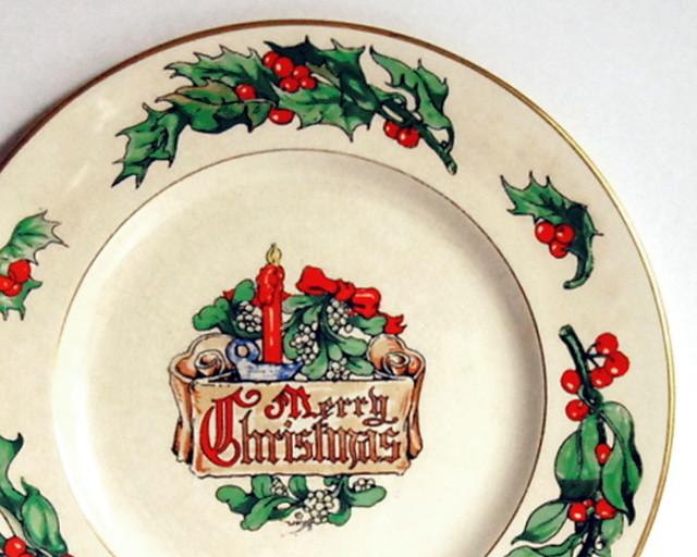 1947 Fondeville Christmas plate