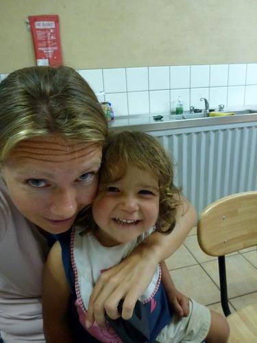 Halls Gap - in de camp kitchen met Sascha