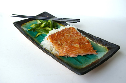 Teriyaki trout with quick pickles IV