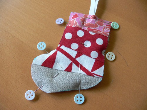 Jenny: Scrappy Stocking Christmas Ornament