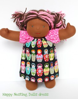 "Nesting Doll Dress for 15"" Dolls (w/option to add knickers)"
