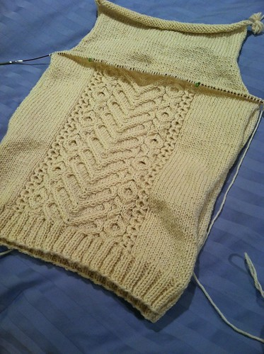 I Heart Aran, front in progress