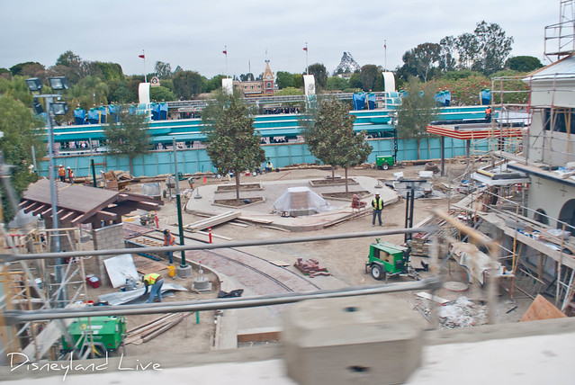 Buena Vista Street Construction from Monorail