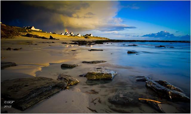 Ciel menaçant (une autre variante) Porz Poulhan - Finistère - Brittany - France