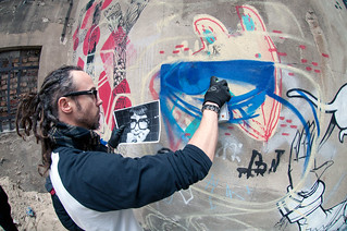 JBAK - Painting Meryt - At The Cave - Berlin - Artist James Bullough & Addison Karl