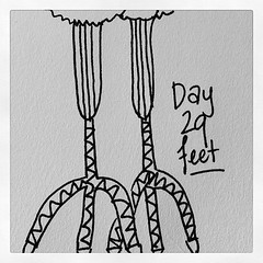 Day 29 - Feet. Some crazy chicken feet #marchphotoaday #handdrawn #bdrawsthings