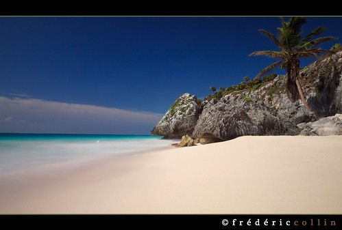 Tulum ruins beach - Long exposure with ND filter