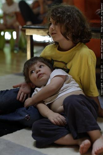 rebecca taking care of emilio